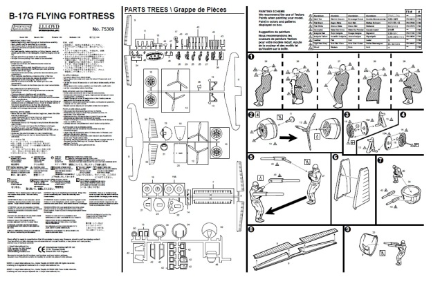 Lindberg B-17 G instructions