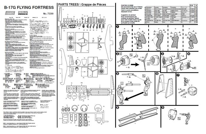 Lindberg B-17 G instructions