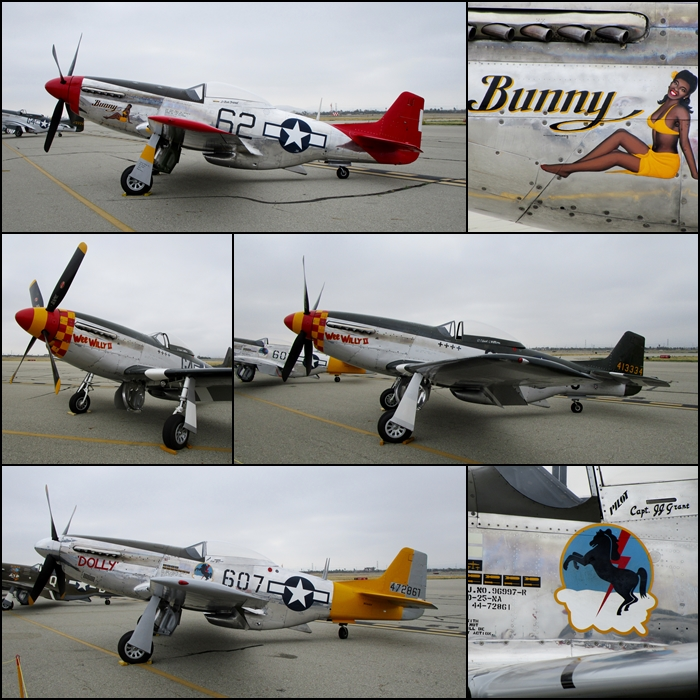 "P-51D's ""Bunny"", ""Wee Willy II"" and the dually named ""Dolly/Spam Can"" Planes of Fame 2015"