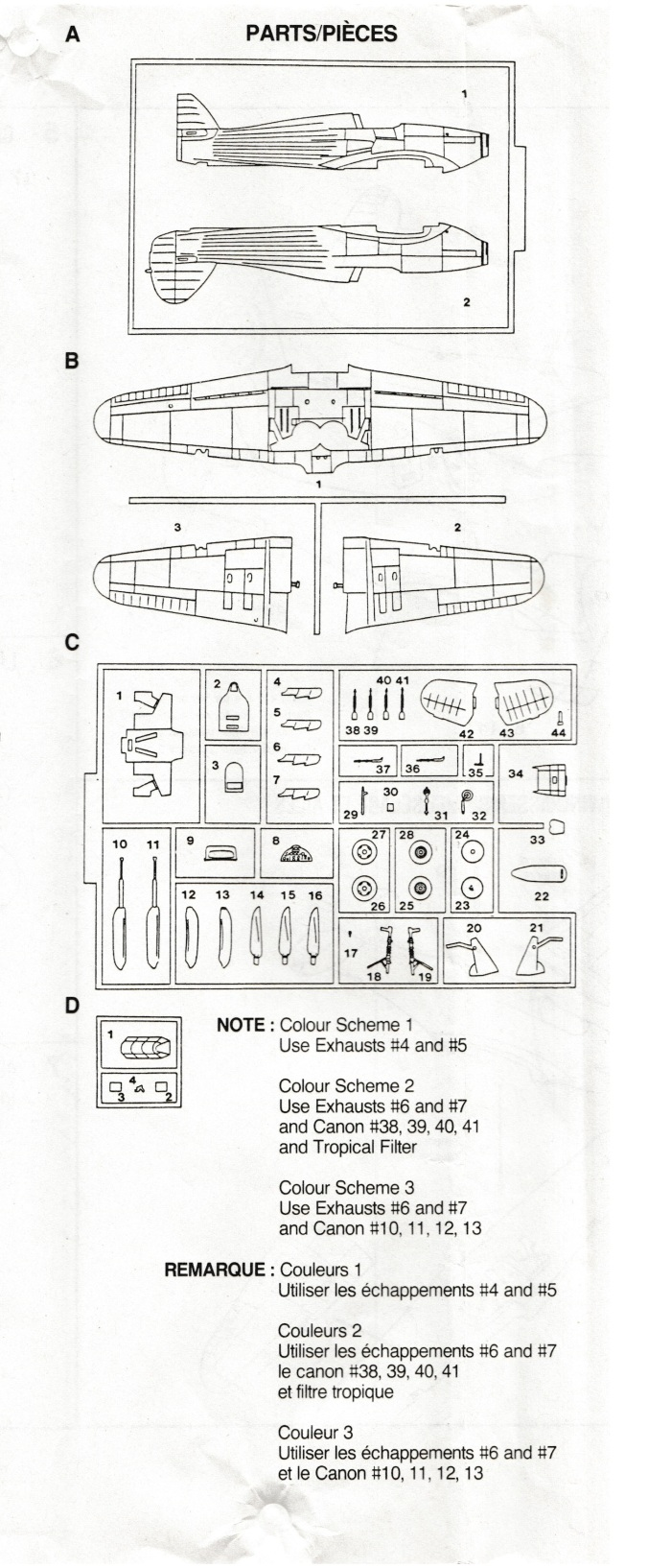 Hobbycraft Hurricane parts