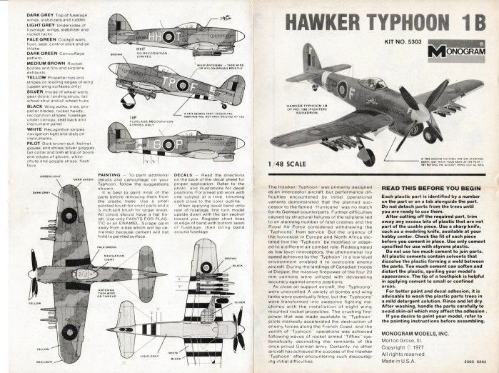 Projet Hawker Typhoon 002