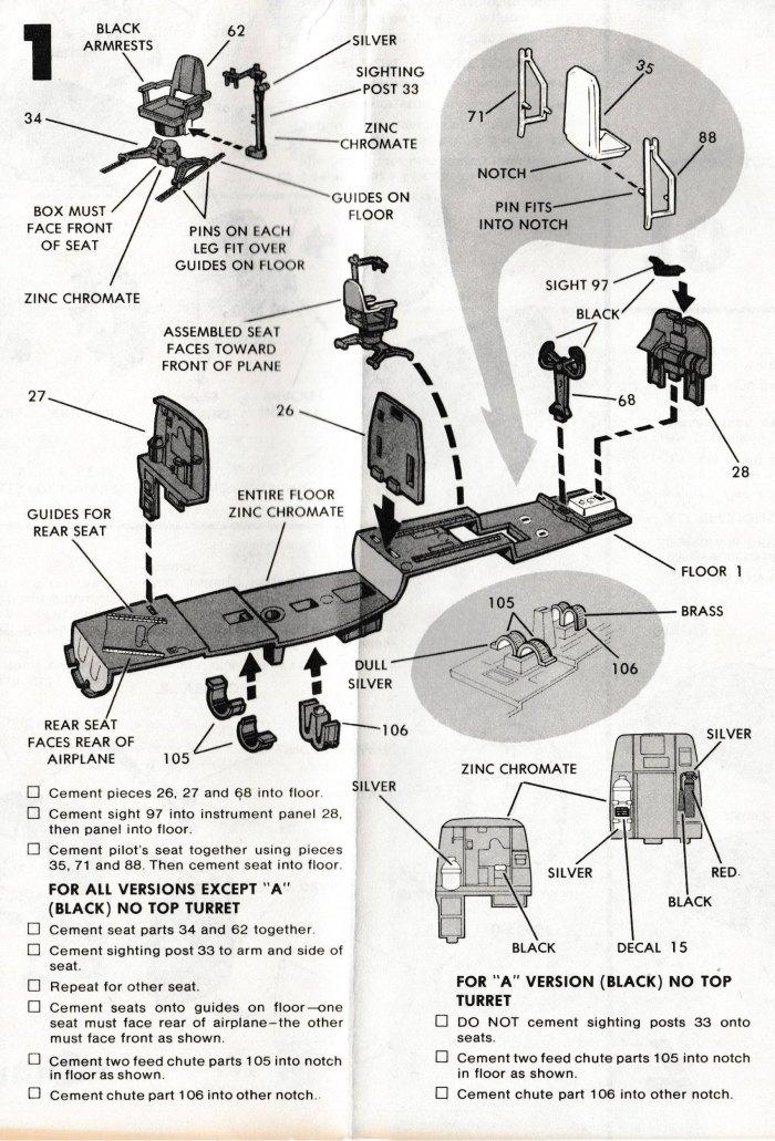 Monogram P-61 Step 1