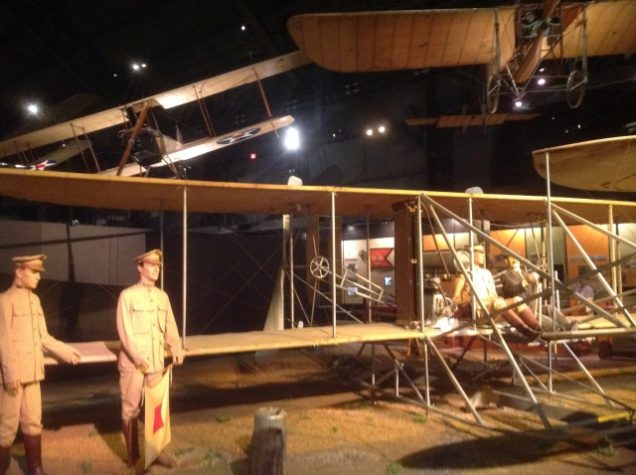 The first glimpse of the displays is, fittingly, a Wright Flyer