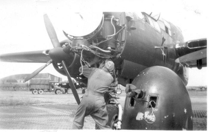 mike-lamoreau-working-on-p-61-radar